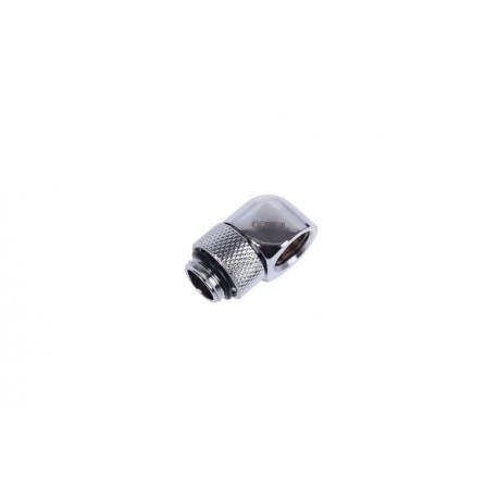 Alphacool HF L-connector G1/4 outer thread rotatable to G1/4 inner thread - Chrome