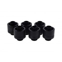 Alphacool Eiszapfen 16/10mm compression fitting G1/4 - deep black sixpack