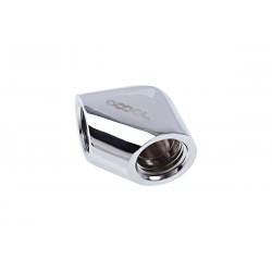 Alphacool Eiszapfen L-connector G1/4 inner thread to G1/4 inner thread - chrome