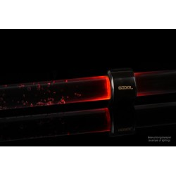Alphacool Aurora HardTube LED ring 16mm deep black - red