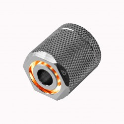 Nanoxia CoolForce LED Fitting 16/13 - Orange - Nickel
