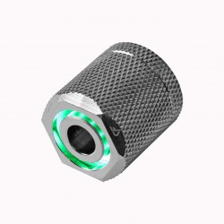 Nanoxia CoolForce LED Fitting 16/13 - Green - Nickel